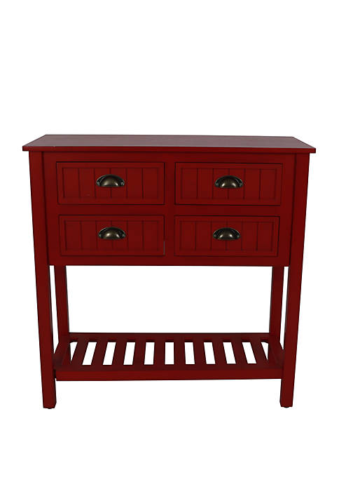 Bailey Bead Board 4 Drawer Console Table