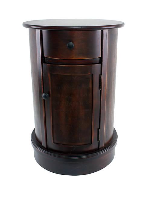 Keaton Round Storage Side Table