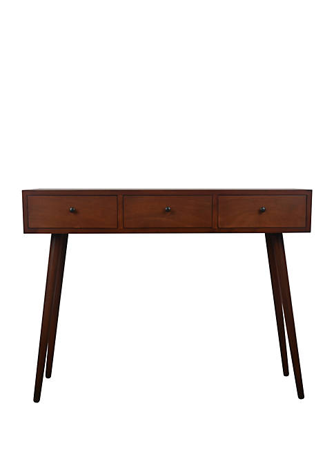 Décor Therapy Mid Century Three Drawer Wood Console