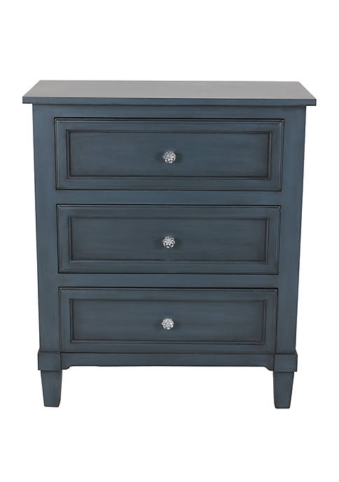 Décor Therapy Becket 3 Drawer Side Table