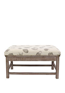 Décor Therapy Farley Upholstered Weathered Ottoman