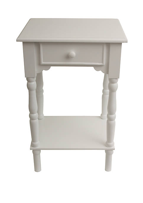 Décor Therapy Satin White Accent table