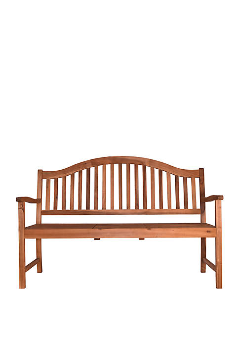 Oasis Outdoor Wood Bench with Center Table