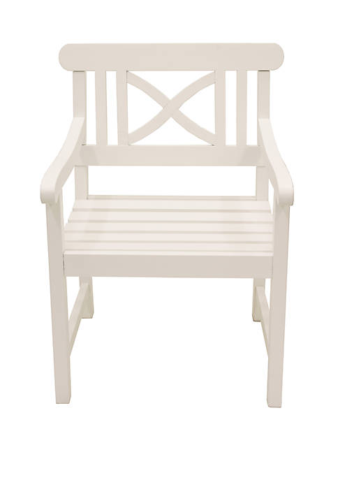 Décor Therapy White Atlantic Arm Chair