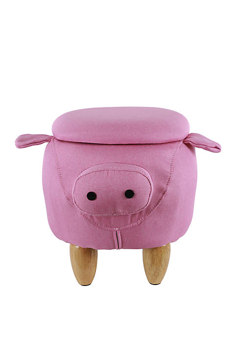 Pink Pig Storage Stool