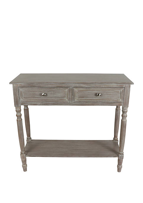 Décor Therapy Simplify Two Drawer Console Table