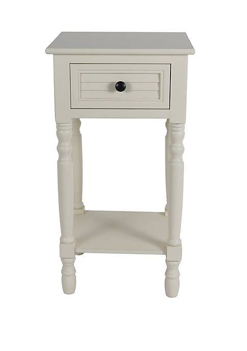 Décor Therapy Simplify Shutter Drawer Accent Table
