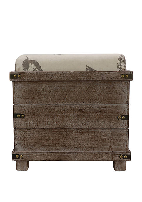 Décor Therapy Hadley Weathered Storage Ottoman