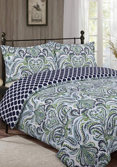 Nouvelle Home Provence Paisley Comforter Set