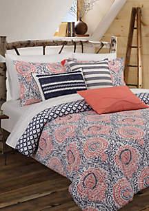 Floral Block Comforter Set