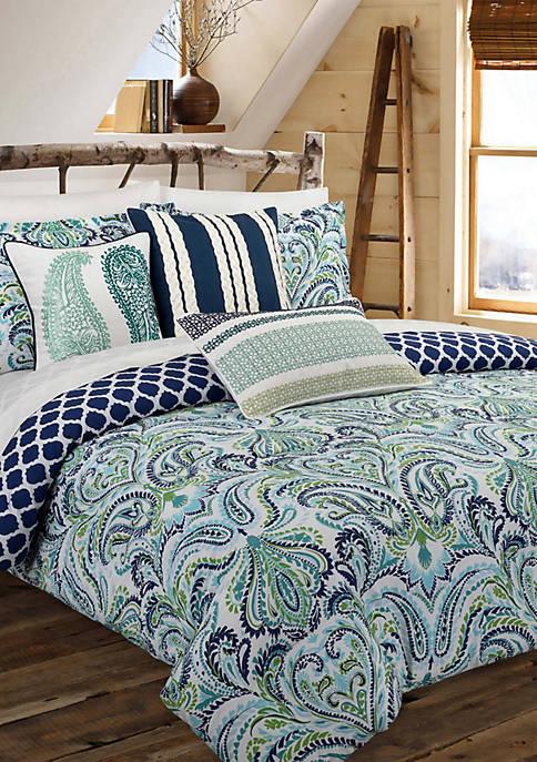 Painterly Paisley Blue Duvet Set