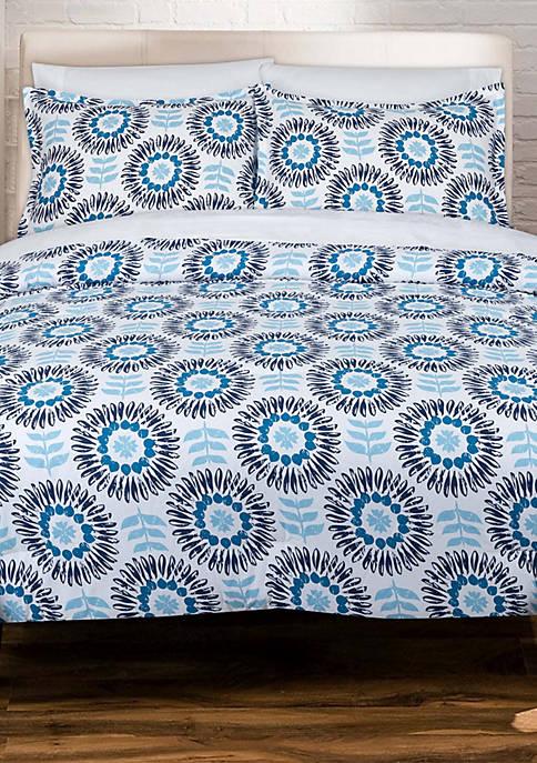 Scandi Floral Comforter Set