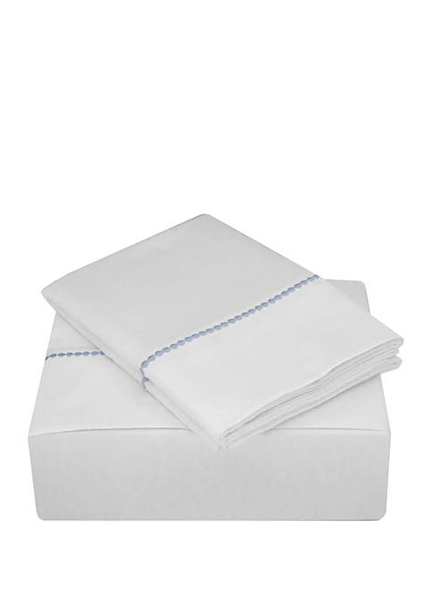 Highlights 400 Thread Count Embroidered Dot Sheet Set