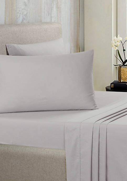 Nouvelle Home Solid Brushed 100% Cotton Sheet Set
