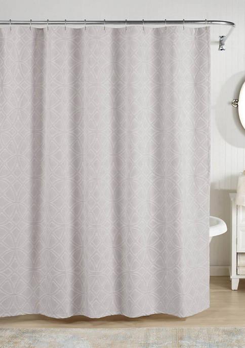 Realeza Bogart European Matalasse Shower Curtain