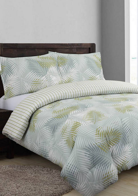 Nouvelle Home Palms Reversible Comforter Set