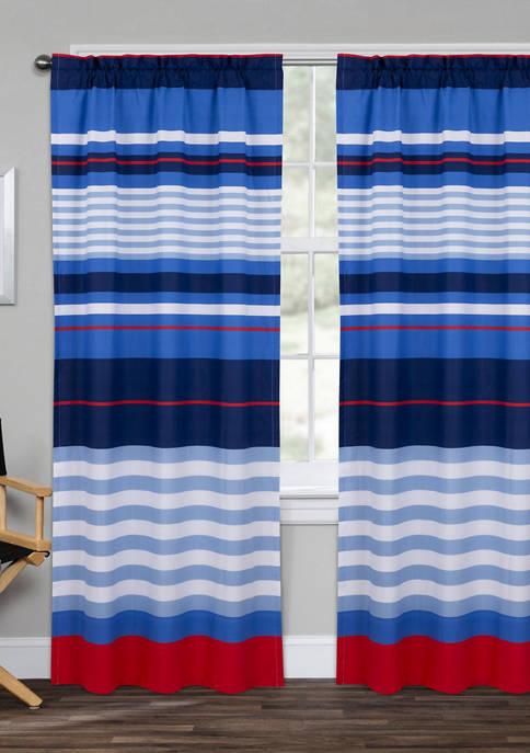 Harbor Stripe Window Panel Pair