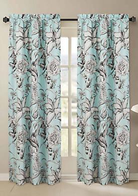 Sketch Floral Window Pair