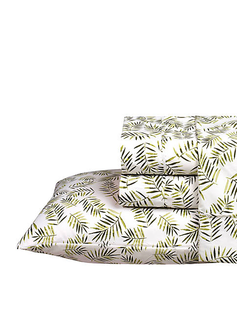Caribbean Joe Palm Printed Sheet Set