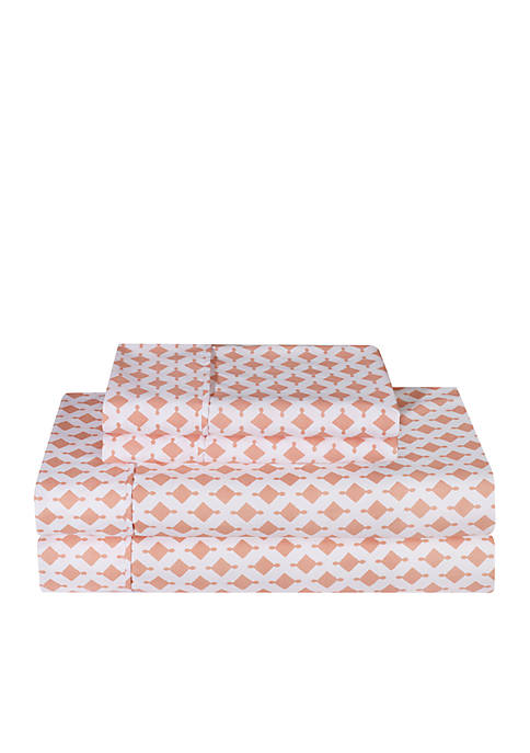 Ellen Tracy Ink Printed Sheet Set