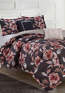 Fleur Du Jour Printed 6-Piece Comforter Set