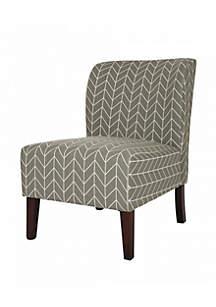 Modern Herringbone Upholstered Living Room Accent Chair