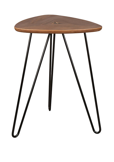 Modern Walnut Veneer Side Table