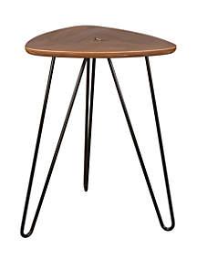 Glitz Home Modern Walnut Veneer Side Table