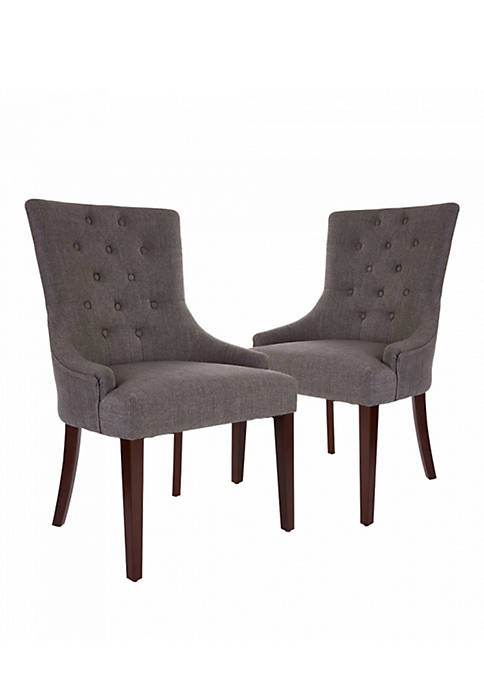 Glitz Home Fabric Dining Chairs With Tufted Back