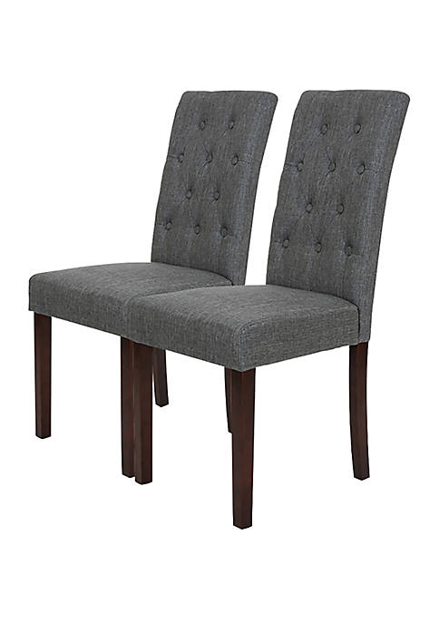 Glitz Home Fabric Dining Chair with Pine Wood,