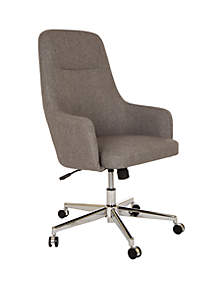Fabric High-Back Adjustable Height Swivel Home Office Chair
