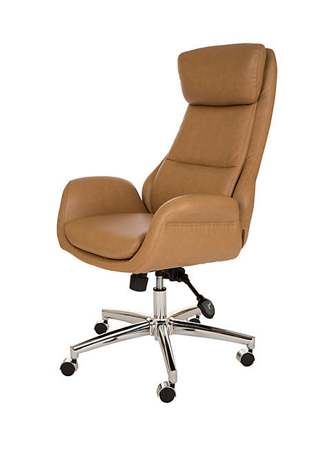 Glitz Home Leatherette Office Chair with Pneumatic Lift