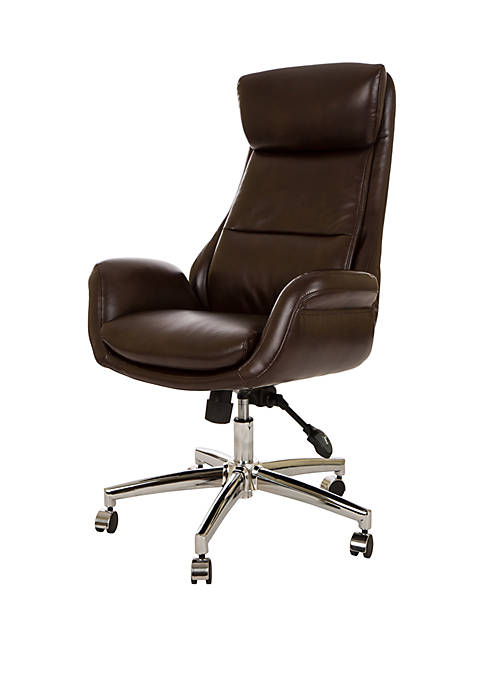 Bonded Leather Office Chair With Headrest and Pneumatic Lift
