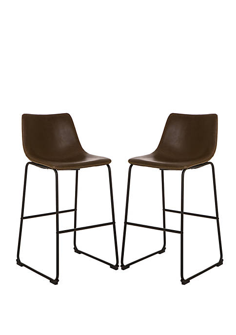 Glitz Home Retro Chrome Dining Kitchen Chairs Leatherette