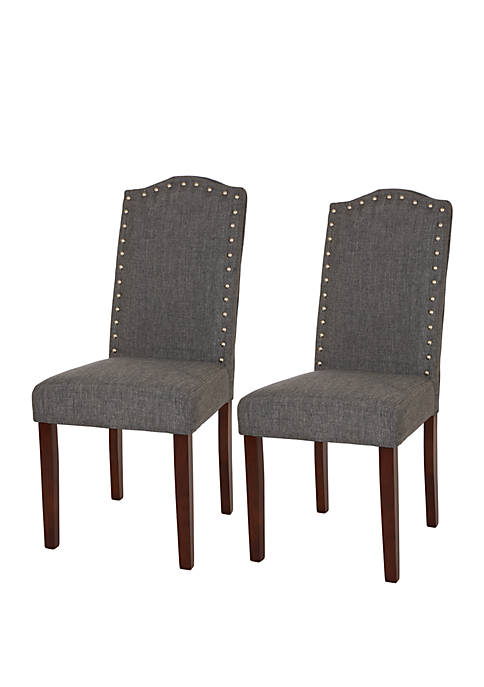 Dining Chair with Studded Decoration, Set of 2