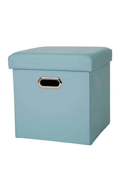 Glitz Home Cube Oxford Foldable Storage Ottoman with