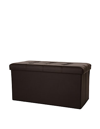 Awesome Glitz Home Multi Functional Faux Leather Foldable Storage Ottoman Bench Cjindustries Chair Design For Home Cjindustriesco