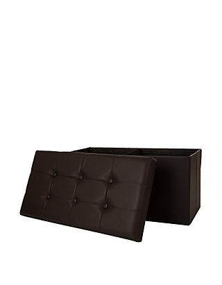 Remarkable Glitz Home Multi Functional Faux Leather Foldable Storage Ottoman Bench Cjindustries Chair Design For Home Cjindustriesco