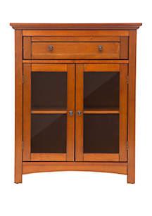Wooden Shelved Floor Storage Cabinet