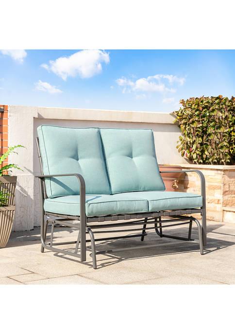 Glitz Home Patio Loveseat Glider Chair
