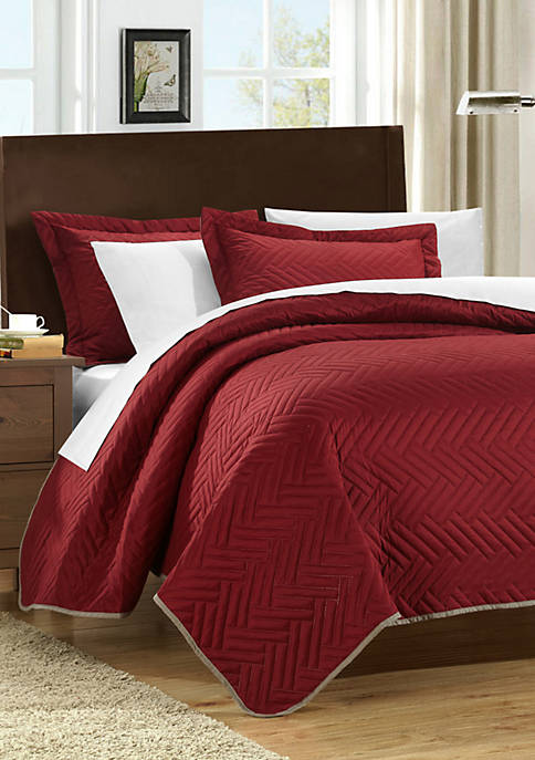Chic Home Palermo Complete Reversible Bedding Set with
