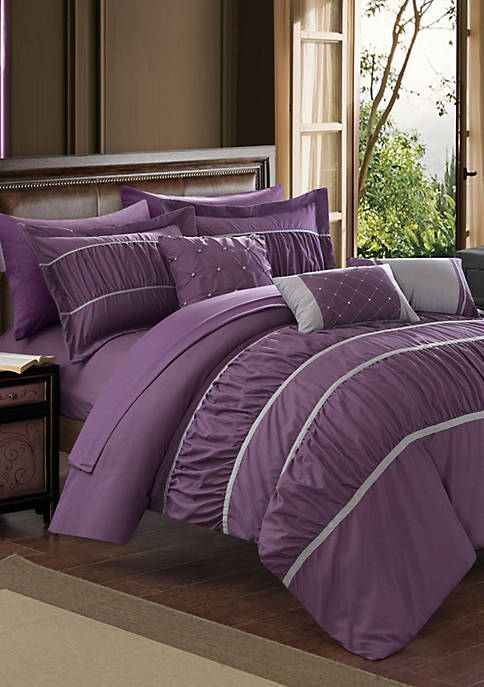 Chic Home Cheryl 10-Piece Complete Bedding Set with