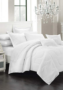 Donna 11-Piece Complete Bedding Set with Sheets - White