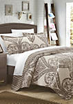 Napoli Complete Quilt Set with Sheets - Beige