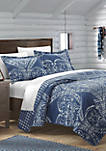 Napoli Complete Quilt Set with Sheets - Navy