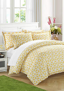 Chic Home Elizabeth Duvet Cover Set -Yellow