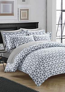 Chic Home Elizabeth Duvet Cover Set- Grey
