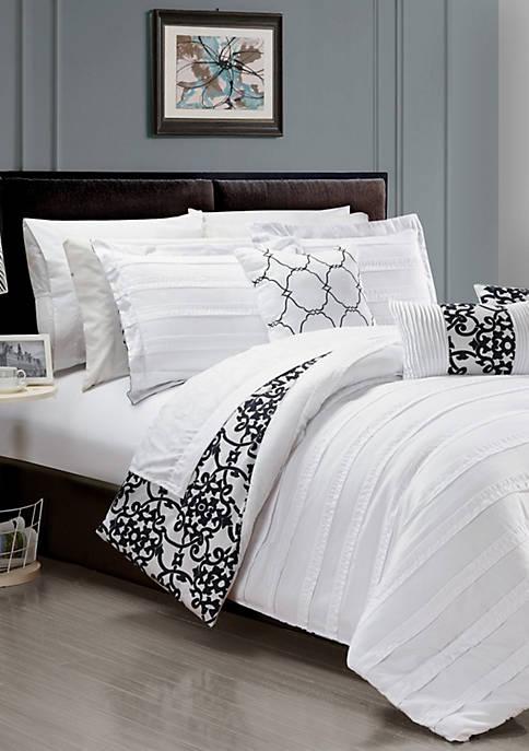 Chic Home Lea 10-Piece Comforter Set- White