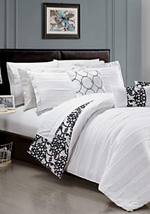 Lea 10-Piece Comforter Set- White
