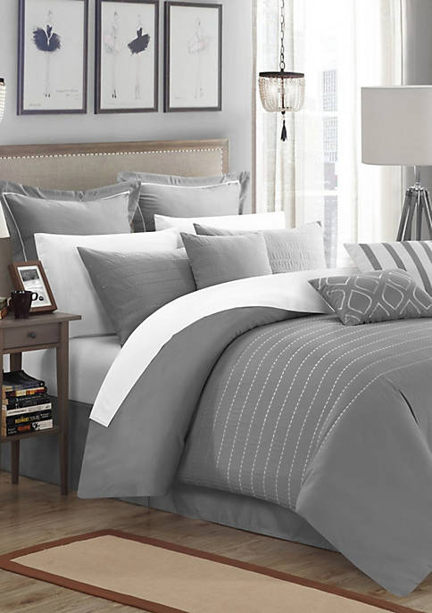 Chic Home Brenton Comforter Set- Grey